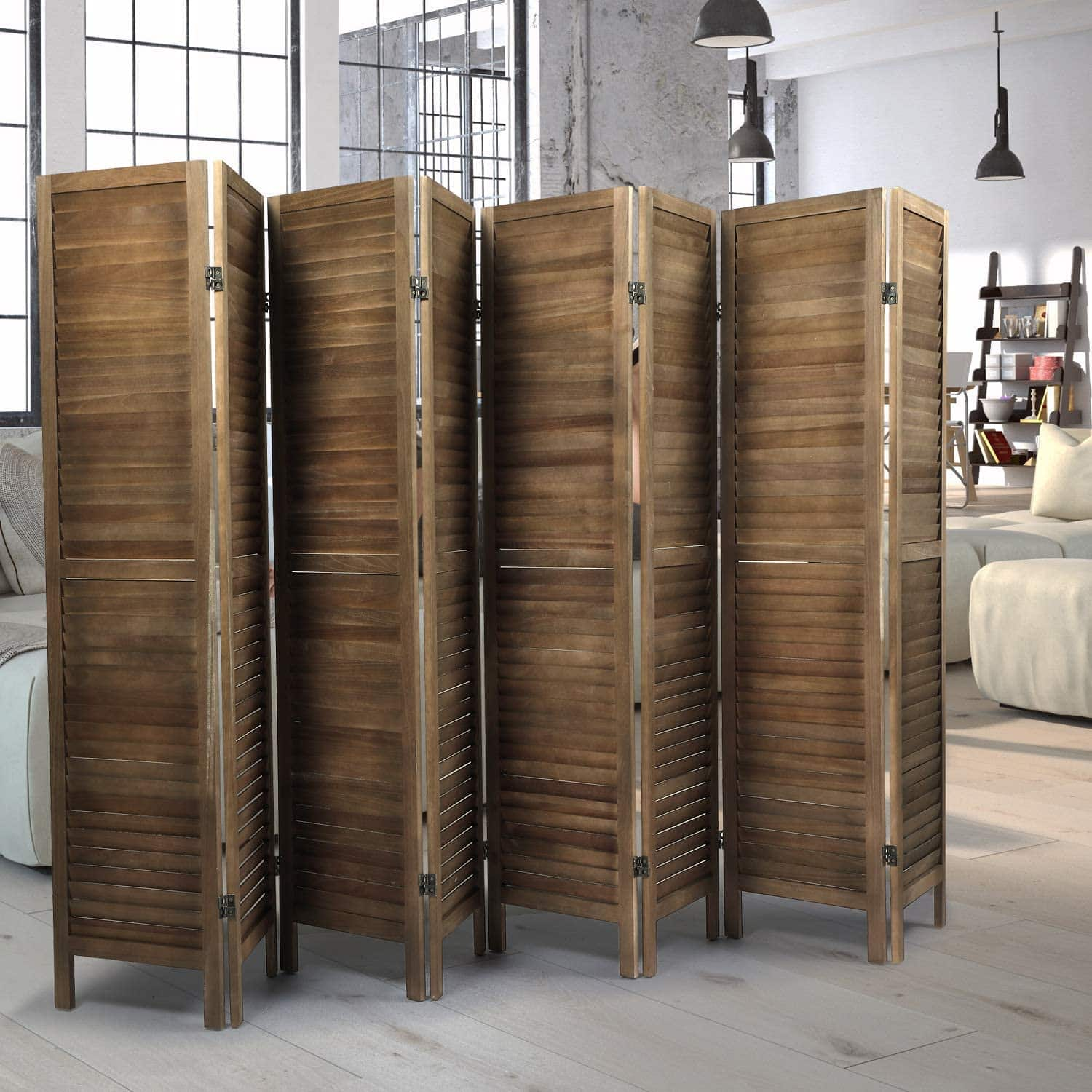 Sycamore Wood Freestanding Room Divider Wall Divider