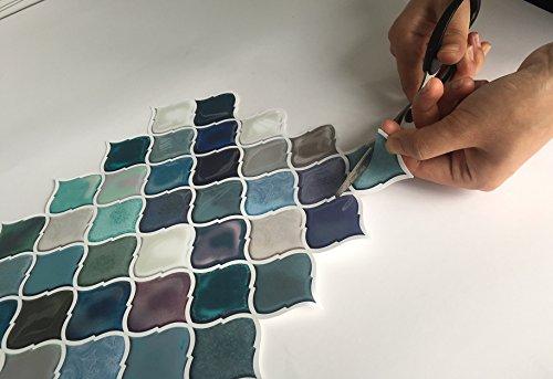 Teal DIY Peel&Stick Waterproof Tile
