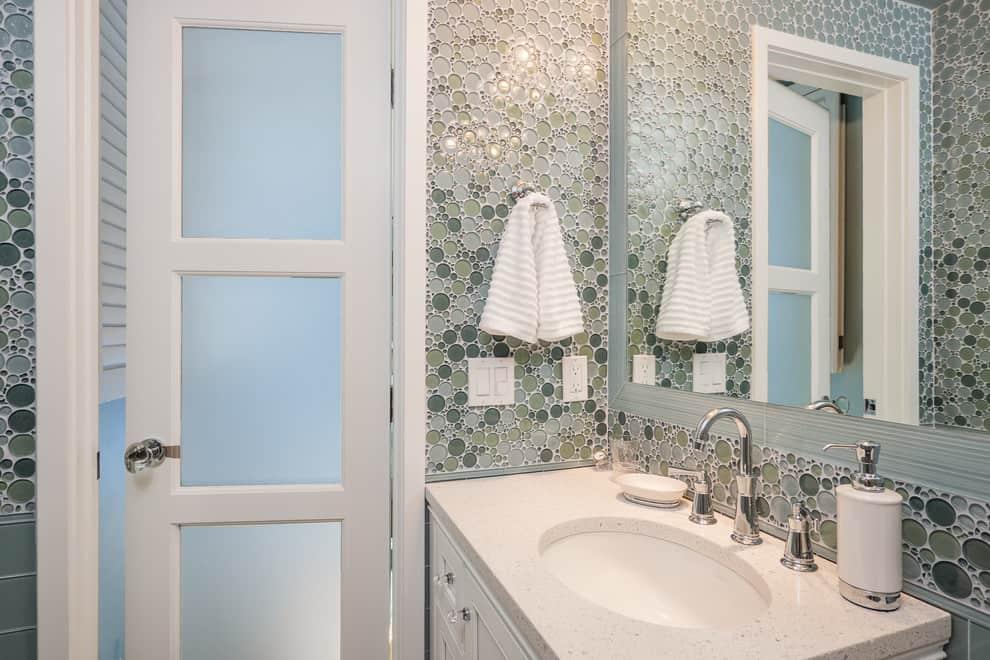 Tile Backsplash Embedded Mirror ideas