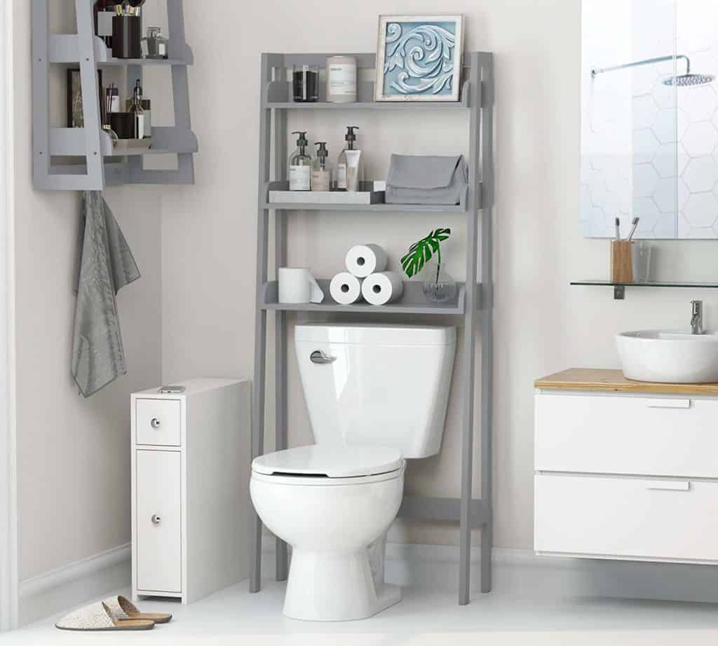 UTEX 3-Shelf Bathroom Organizer Over The Toilet, Bathroom Spacesaver