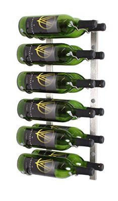 VintageView WS22 2-Foot 12 Bottle Wall Mounted Wine Rack in Brushed Nickel