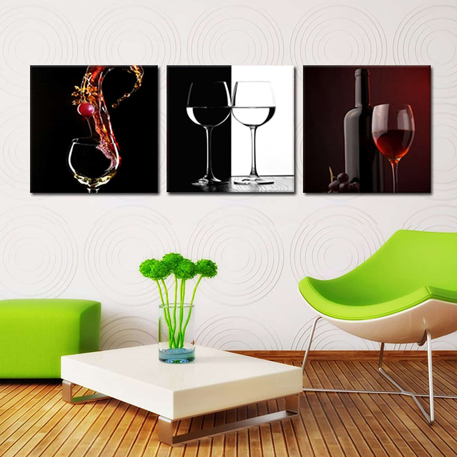 WINE&GLASS&BOTTLE digital wall artprinted on PVC film and mounted on fiberboards
