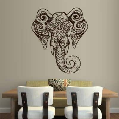 Wall Vinyl Sticker Decals Decor Art Bedroom Design Mural Ganesh Om Elephant