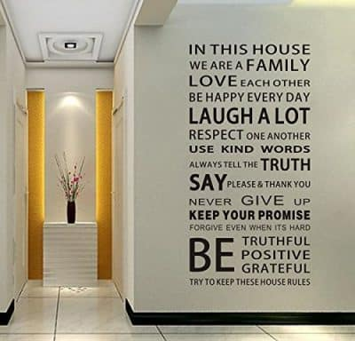 We are Family Quote English Letter Removable Mural Wall Stickers Wall Decal for Living Room Home Decor