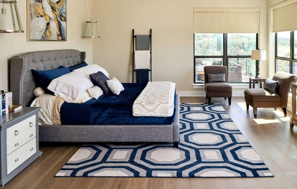 What Size Rug To Put Under A King Bed