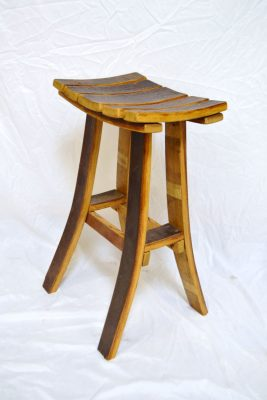Wine Barrel Bar Stool