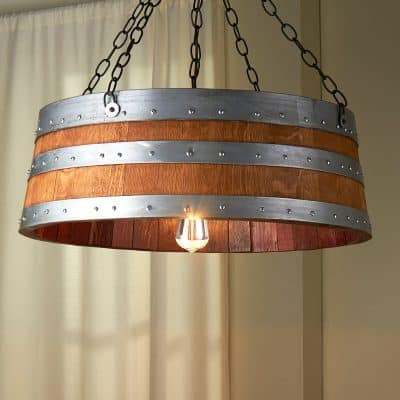 Wine Barrel Top Light