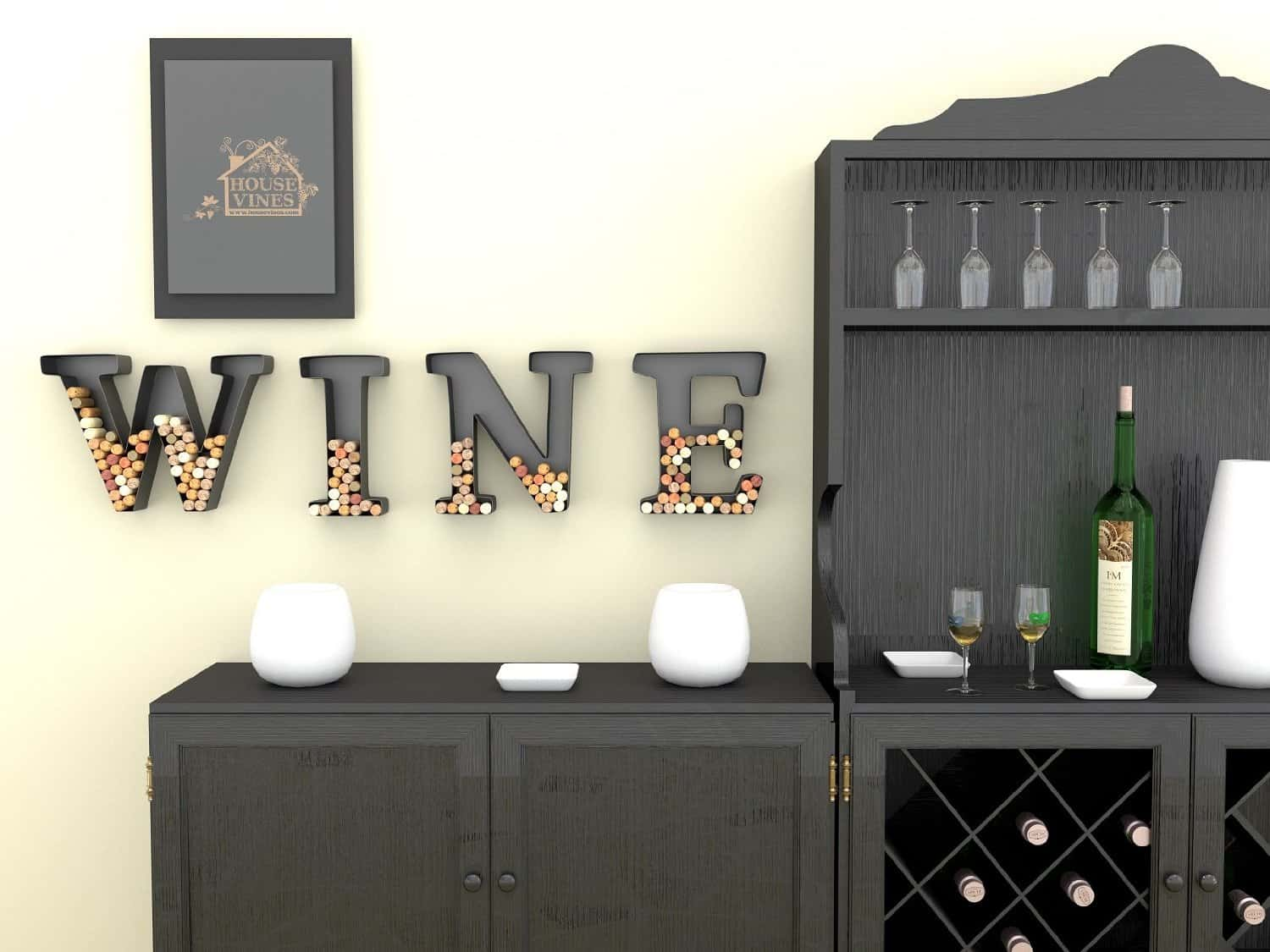 Wine Letter Cork Holder Art Wall Décor