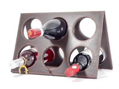 Wine Rack (Handcrafted) with Drip-Stop Bottle Pourer by Trendy Bartender® - Space Saver Countertop Wine Bottle Holder