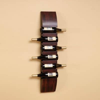 Wood WINE BOTTLE Holder Rack WALL MOUNT