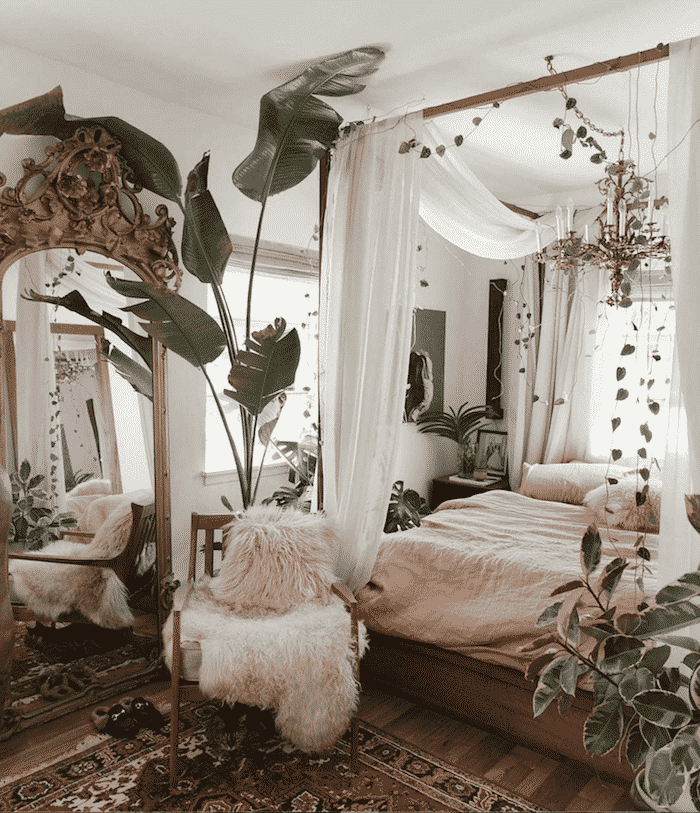 bed canopy 20+ Aesthetic Bedrooms