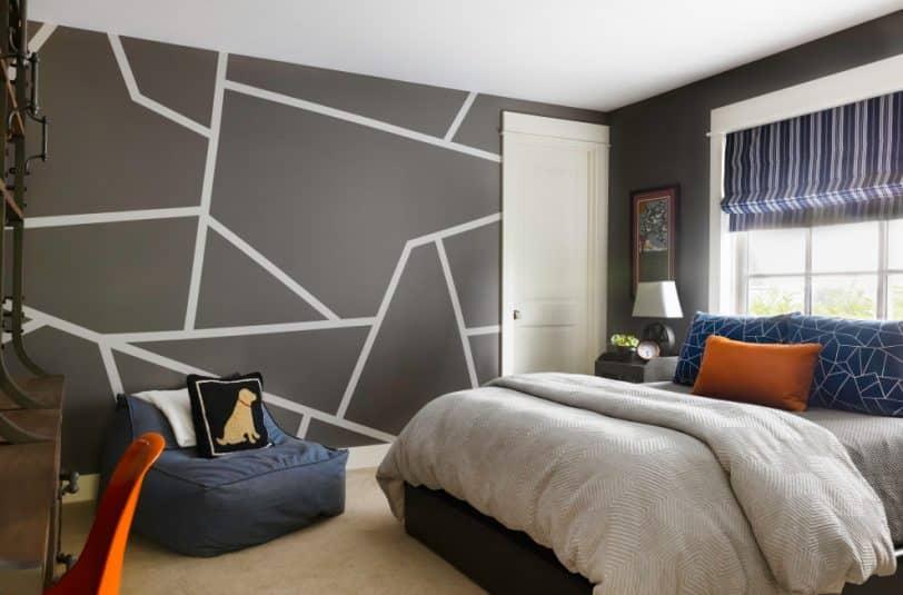 bedroom carpet with dark grey