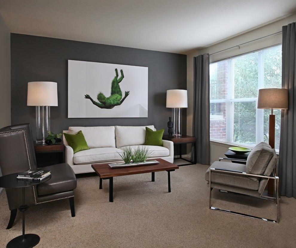 beige carpet with dark grey