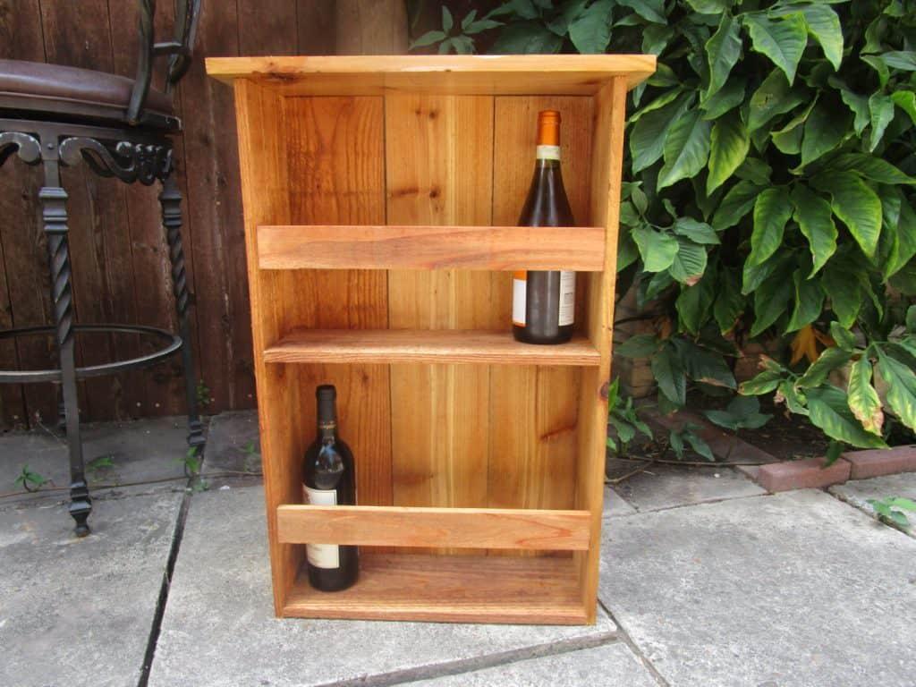 cedar wine rack