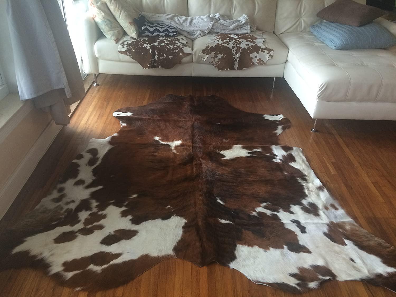 cowhide rug living room