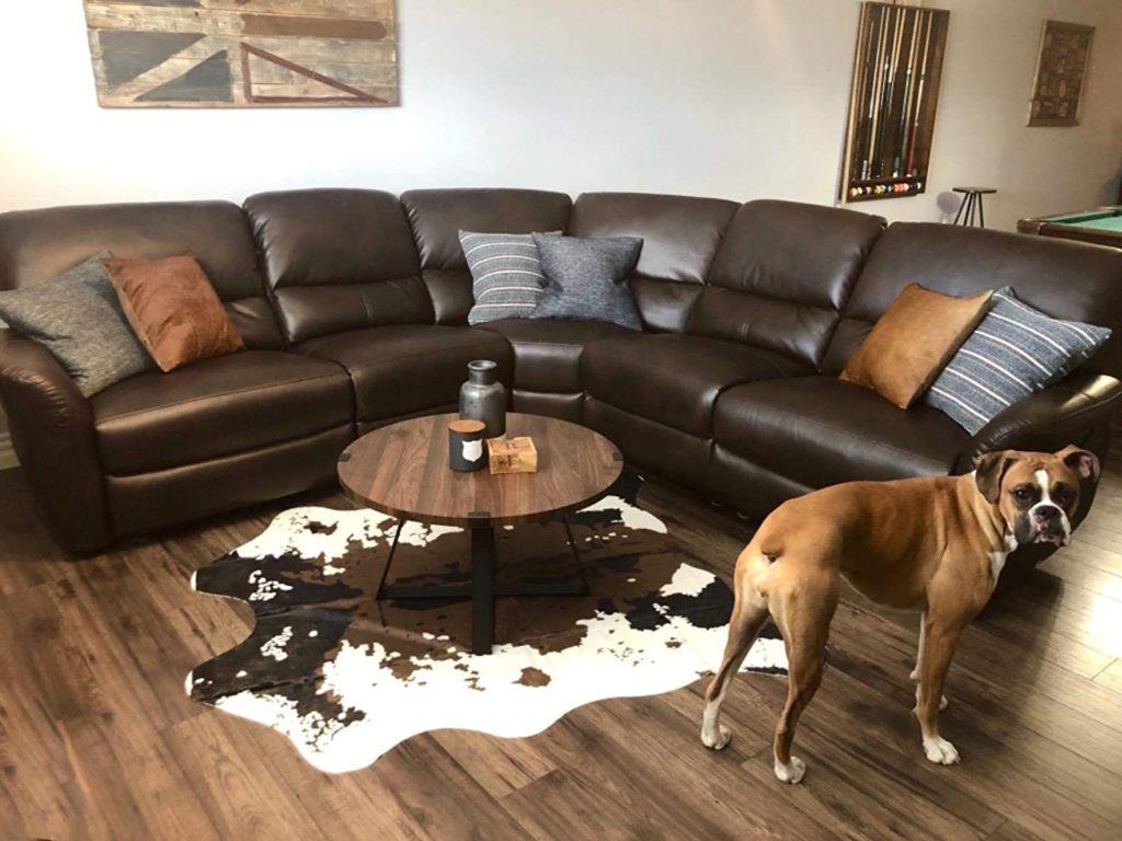 fake cowhide rug