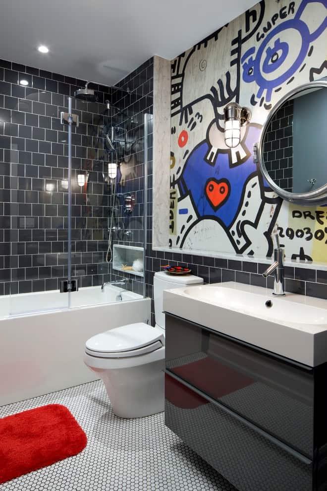 fun basement bathroom for kids