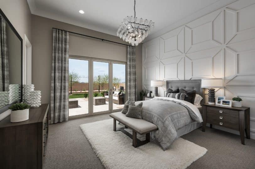 gray floor bedroom design