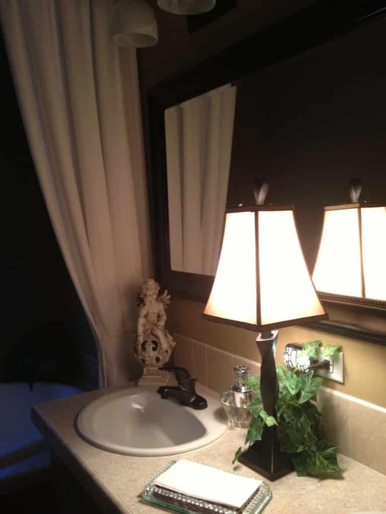 lamp on vanity
