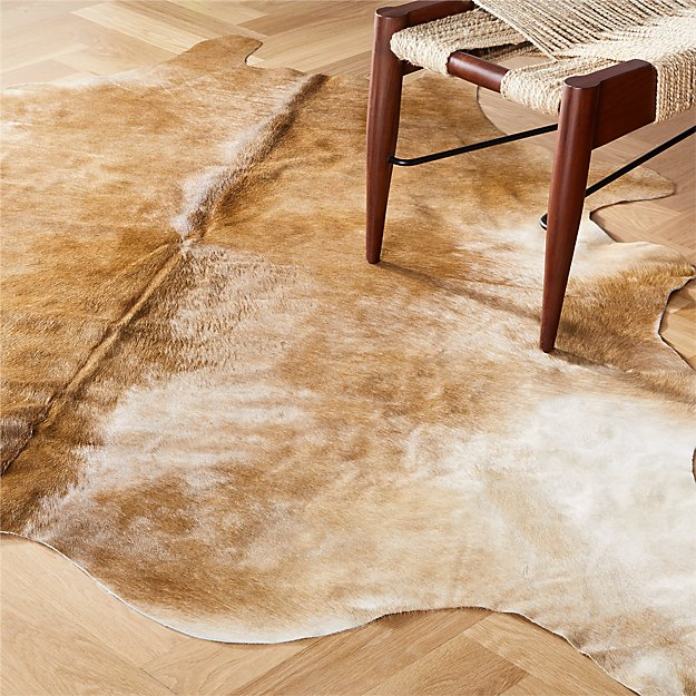 natural cowhide rug