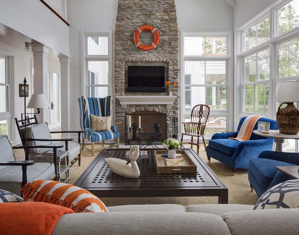 nautical style living room