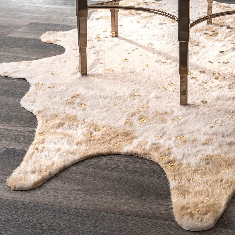 off white cowhide rug