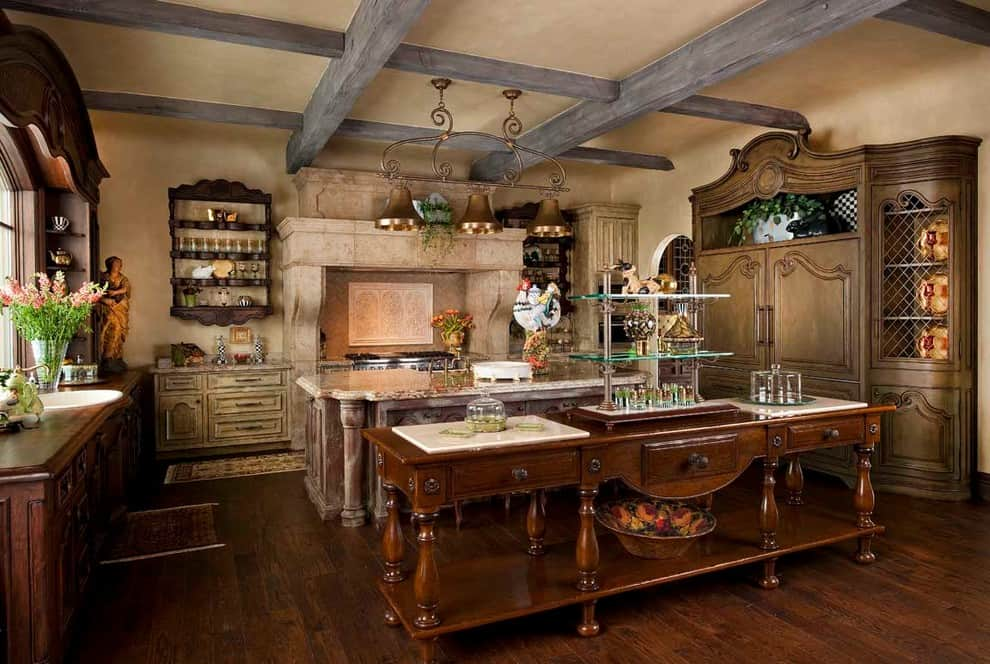 old-style french kitchen