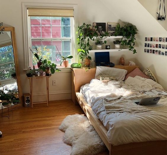 plants add visual interest and beauty 20+ Aesthetic Bedrooms
