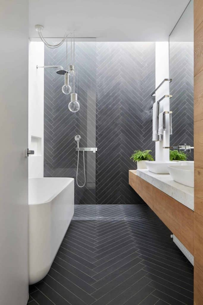 shape small bathroom tile size