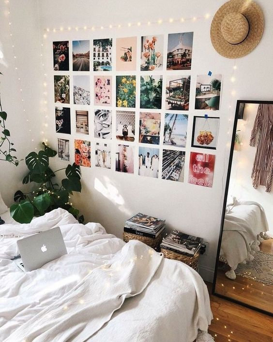 Aesthetic Bedroom design with wall collages 20+ Aesthetic Bedrooms