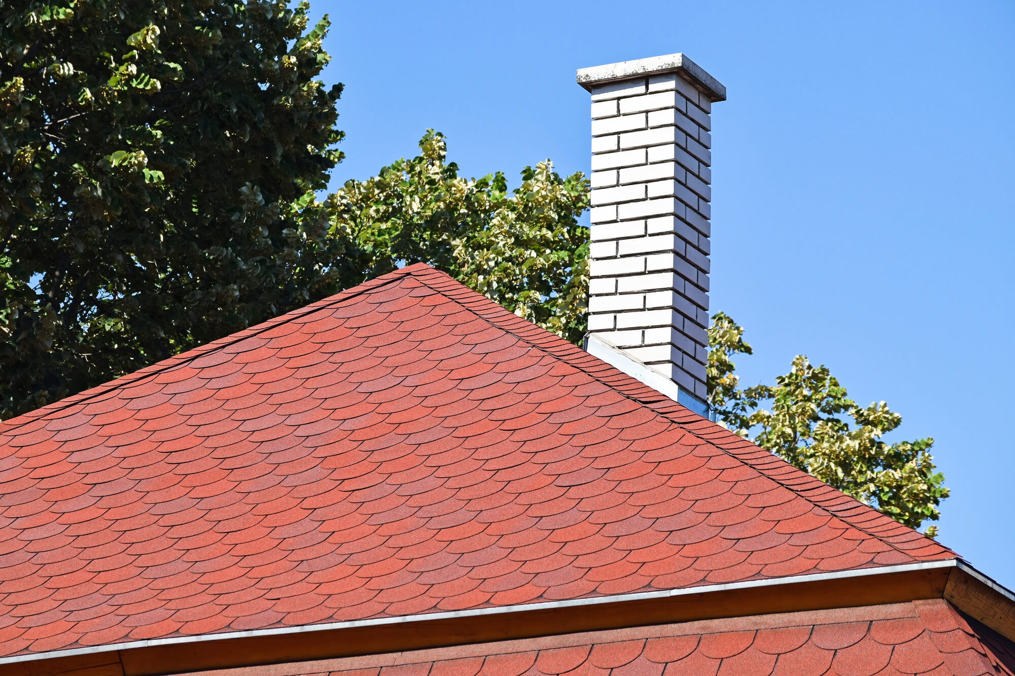 white chimney red roof