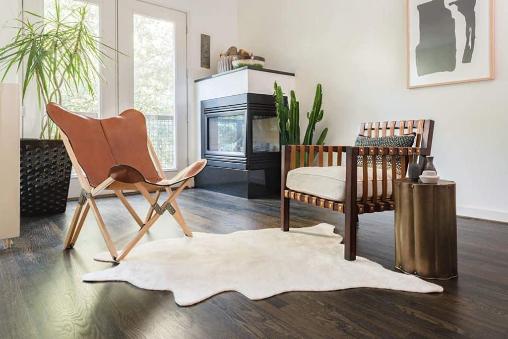 faux cowhide rug