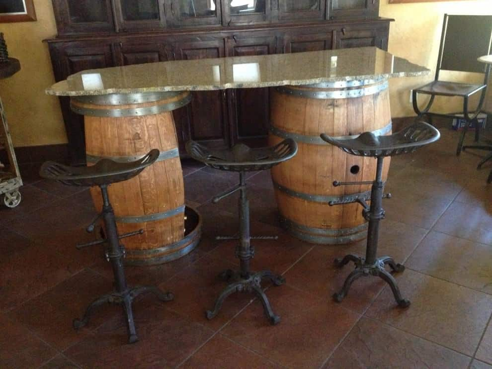 Wine Barrel Bar Front