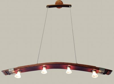 wine barrel stave pendant light